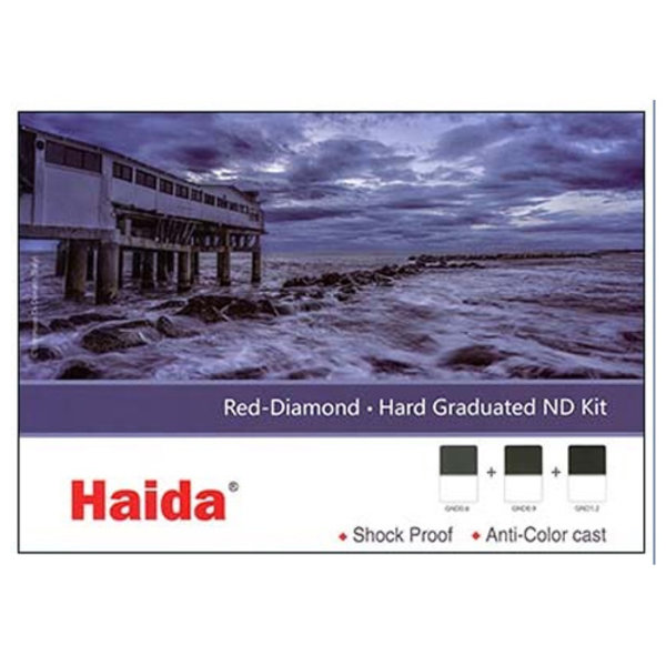 Haida Red Diamond Hard Graduated ND Filter Kit 2-3-4 Stops 100x150mm