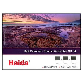 Haida Red Diamond Reverse Graduated ND Filter Kit 2-3-4 Stops 100x150mm