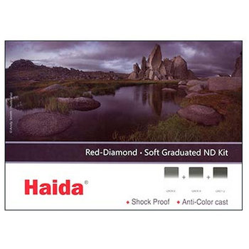 Haida Red Diamond Soft Graduated ND Filter Kit 2-3-4 Stops 100x150mm