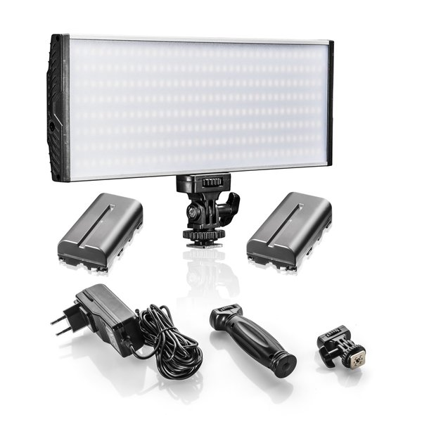 Walimex Pro LED Niova 150 BiColor plus NP-F Batterij