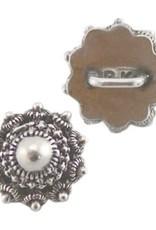 Metalen schuiver zeeuwse knoop zilver (1x)