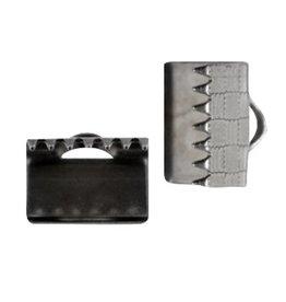 DQ lintklem 10 mm antraciet zilver (2x)