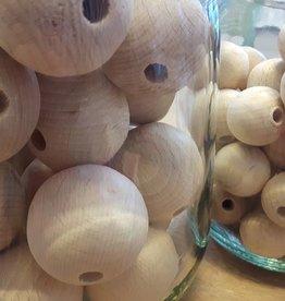 Grote houten kralen ongelakt (div maten)