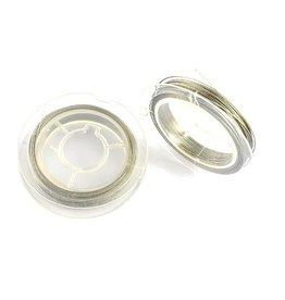 Rol metaaldraad zilver 0.38 mm  (9m)