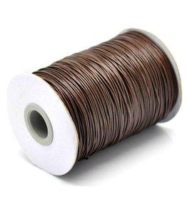 Waxkoord polyester bruin 1 mm (5m)