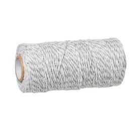 Koord grijs wit 1,5 mm (10 m)