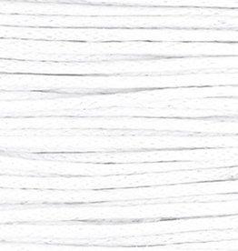 Waxkoord katoen wit 1.5 mm (5m)