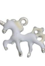 Bedel eenhoorn wit/zilver