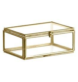 Madame Stoltz Glazen doosje goud/brass