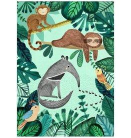 Petit Monkey Postkaart Miereneter en andere dieren