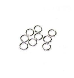 betaalbare kralen Buigring sterling zilver 4 mm