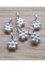 Bedel bloem sterling zilver 5 mm