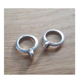 DQ metaal schuiver platte ring met oog (1x)