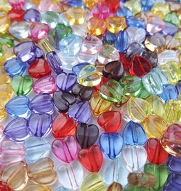 Hartjeskralen transparant (mix en kleur)