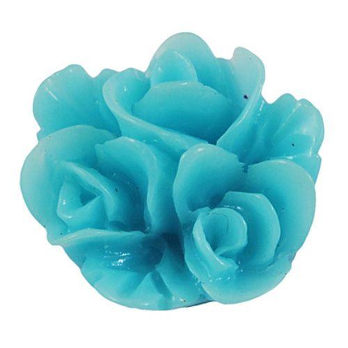 Bulkverpakking cabochon turquoise bloem (60x)