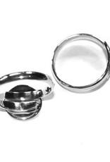 Sterling zilveren ring met plakplaatje (1x)