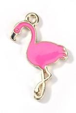 Bedel emaille flamingo felroze
