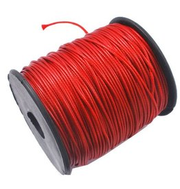 Waxkoord polyester rood 1 mm (5m)