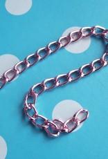Aluminiumketting roze (1 m)