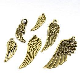 Bedelmix metalen veren antiek brons (10x)