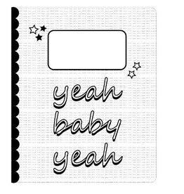 Sparkling Paper Schrift Yeah baby yeah