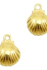 Bedel DQ mini schelpje goud (1x)