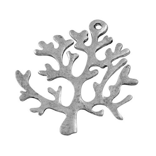 Bulk bedel levensboom antiek zilver (15x)
