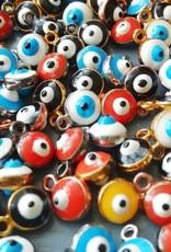 Bedel mini evil eye emaille (1x)