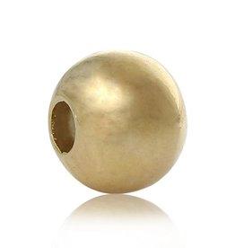 Ronde metalen tussenkraal verguld 2 mm (50x)