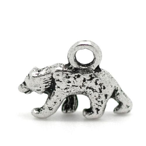 Bedel ijsbeer antiek zilver