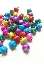 Gekleurde belletjes 12 mm (mix of kleur)