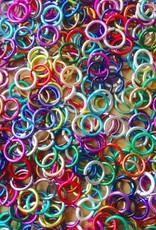 Gekleurde buigringetjes 6 mm (25x)