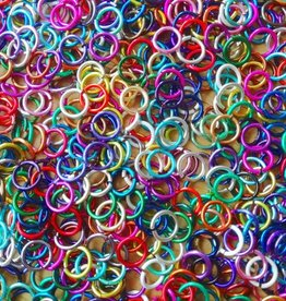 Gekleurde buigringetjes 8 mm (19x)