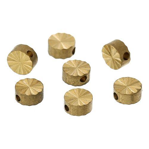 Ronde platte goudkleurige tussenkraal 5 mm (6x)