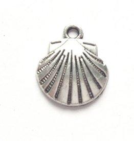 Bedel waaier / schelp zilverkleurig (2x)