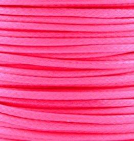 Waxkoord polyester 1 mm fluor roze (5m)