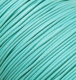 Waxkoord polyester 0,5 mm blauw/mint (5m)