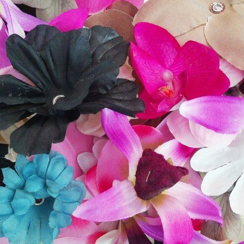 Restant mix textiel bloemen (10x)