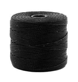 Nylon S-londraad 0,6 mm zwart (10m of 70m)