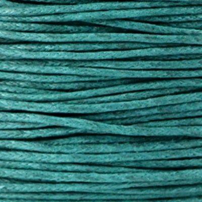 Waxkoord katoen 1 mm smaragdgroen (5m)