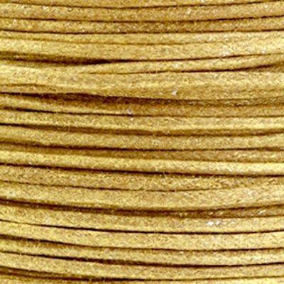 Waxkoord katoen 0.5 mm metallic goudbruin (5m)
