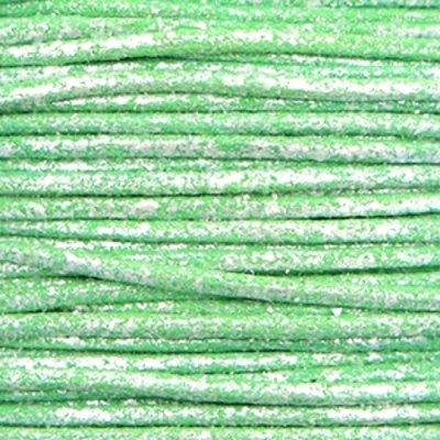 Waxkoord katoen 0.5 mm metallic groen  (5m)