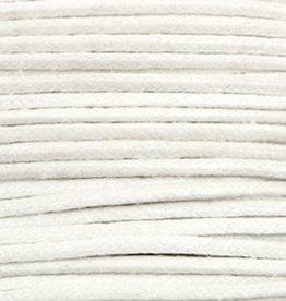 Waxkoord katoen 0.5 mm metallic wit (5m)