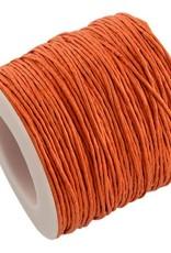 Waxkoord katoen 1 mm oranje (5m)