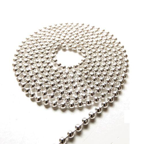 Ball chain verzilverd 1,2 mm