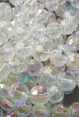 Facet glaskraal transparant ab-glans (15x of streng)