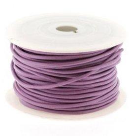 DQ leren veter lila 2mm (p/m)