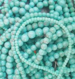 Imitatie turquoise kraal div maten