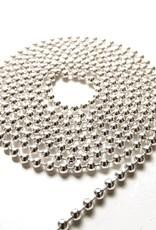 Ball chain verzilverd 3 mm