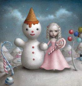 La marelle Kaart Snoep en sneeuwpop